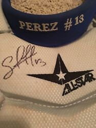 Salvador Perez Game Worn SignedAutographed Chest Protector