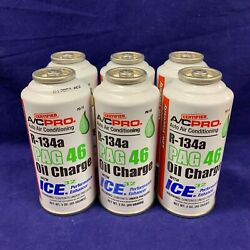 *Set of 6* R-134a Refrigerant PAG 46 Oil Charge Auto Air Conditioner 3oz.