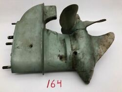 Johnson Seahorse Po 15 Outboard 1941-50 Lower Unit With Prop Propeller