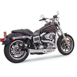 Bassani Road Rage II Mega Power 2:1 Exhaust for 1991-2017 Harley Dyna Chrome