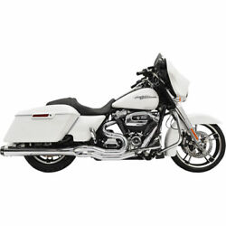 Bassani Chrome Megaphone B4 2-into-1 Exhaust System For 2017 Harley Touring