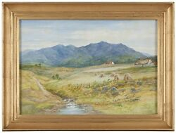 Beattie-brown William 1831-1909 [gb] Titled Signed Watercolor Framed