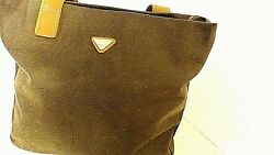 Women's Jump for Boyt Tote Bag Purse Brown Leather with Make-Up Bag
