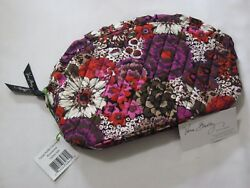 Vera Bradley ROSEWOOD Large RUFFLE COSMETIC Case MAKEUP Travel BAG for TOTE  NWT