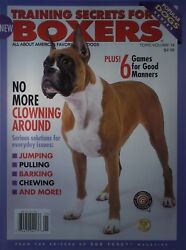 TRAINING SECRETS FOR BOXERS Popular Dog Series Book From Dog Fancy 130 Pages NEW