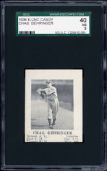1936 E-unc Candy Charlie Gehringer Detroit Tigers Sgc 40 Very Rare.