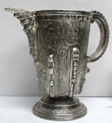 Madrid Spain Sterling Silver Old Wine Pitcher