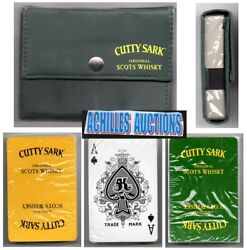 Sealed Playing Cards Unopened 2 Decks In Case, Original Cutty Sark Scots Whiskey
