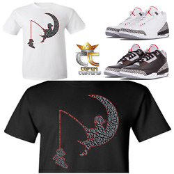 Exclusive Tee/t Shirt 2 To Match Nike Air Jordan 3 Cements/jth And Elephant Prints