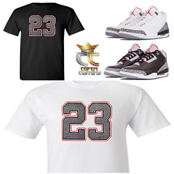 Exclusive Tee/t Shirt 3 To Match Nike Air Jordan 3 Cements/jth And Elephant Prints