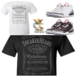 Exclusive Tee/t Shirt 4 To Match Nike Air Jordan 3 Cements/jth And Elephant Prints