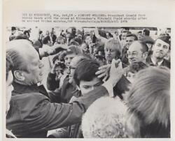 Airport Welcome- President Ford Shakes Hands With Crowd 10/76- Wire -press Photo