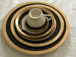 Gorham Georgian Rose 64 Piece Dinnerware Service For 12 Double Banded New