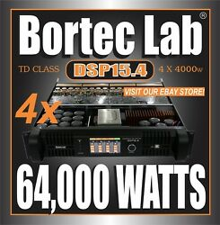 Lot (4) Bortec Lab DSP 4ch 16000w TD CLASS PROFESSIONAL POWER AMPLIFIERS