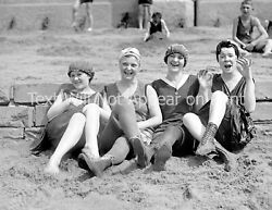 1920 Bathing Beauties on the Beach Old Photo 8.5quot; x 11quot; Reprint $12.58