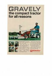 Vintage Old Gravely Compact Tractor Riding Lawn Mowers Dad Yard Ad Print