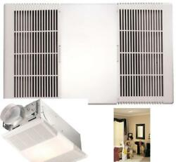 White Exhaust Fan With Light And Heater Bathroom Ceiling Ventilation 70 Cfm
