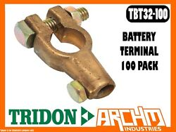 Tridon Tbt32-100 - Battery Terminal - 100 Pack Brass 15-50mm2 6-0 Bands Boxed