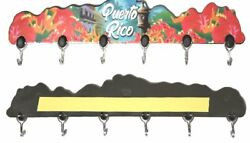 Puerto Rico Home Decorative Souvenirs Keychain Wall Holder Boricua amp; Rican