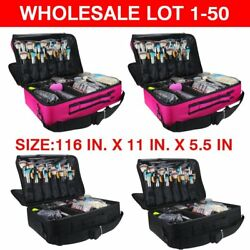 Makeup Artist Organizer Bag Professional Make Up Cosmetic Box Case Travel LOT 50