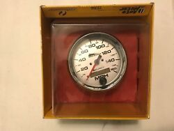 Auto Meter Pro-cycle Electric Speedometer 3-3/4 In. Silver Dial Face Harley