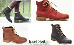 Josef Seibel Shoes Germany Leather Comfort Lace Up Ankle Boots Sienna 17