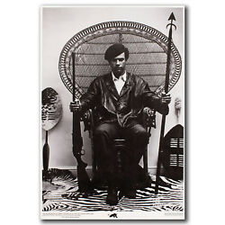 Huey Newton Black Panther Hot 2018 Movie Seated In A Wicker Chair Art Poster 63