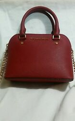 Michael Kors Cindy XSmall Crossbody Leather Bag Cherry Red*