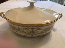 Lenox Castle Garden Covered Vegetable Bowl New Discontinued