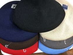 New With Tag Kangol Classic Tropic 504 Caps Black/navy/white/brown Red/beige/blu