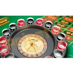 Casino Shot Glass Roulette Drinking Adult Party Game Set 16 Shot Glasses Quality