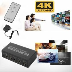 LOT 35 Port 1080P HDMI Selector Switcher Splitter Hub + Remote for PS34 HDTV T