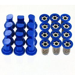 12 Pack - Hypro 30dt1.5 Deflectip Nozzles W/ Teejet 4193a-pp-10-50ss Strainers