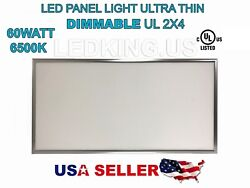 PANEL LED LIGHT Ultra Thin 60W 2x4 6500K UL External Driver New Dimmable 6600LM