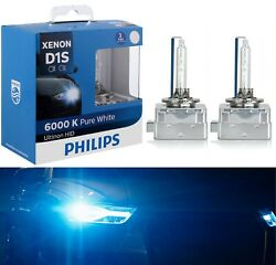 Philips HID Xenon Ultinon D1S White 6000K Two Bulbs Head Light Replace High Low