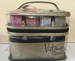 Victoria Secret 4 Piece Travel Set Cosmetic Make up Bags Transparent (19.5.8937)