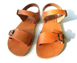 Leather Sandals Handmade With Leather Sole Conductive For Earthing Grounding
