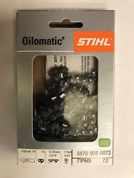 71pm3 72 Stihl New Chainsaw Chain Ht 133 14 In. 1/4p .43 Gauge 72dl 36700050072
