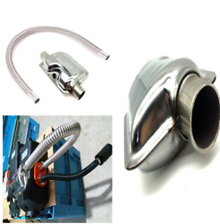 Stainless Steel Air Parking Heater Exhaust Pipe Gas Vent+Silence for Car Truck