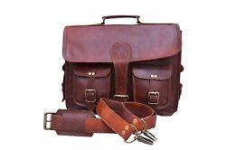 Leather Vintage Messenger Shoulder Men Satchel S Laptop Business Briefcase Bag $64.17