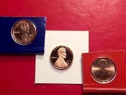 2013 S Lincoln Shield Cent Gem Deep Cameo Proof Penny With 2013-p And 2013-d Mint