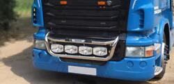 To Fit Pre 2009 Scania P G R Series Grill Light Bar C + Jumbo Spots + Side LEDs