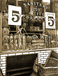 1937 Bakery Store Window New York City Old Photo 8.5 X 11 Reprint