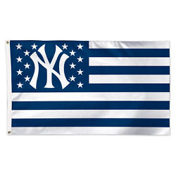 New York Yankees Stars And Stripes Flag - Deluxe 3' X 5'