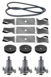 Sears Craftsman T3000 Yt 4500 54 Lawn Mower Deck Parts Kit Spindles Blades Belt