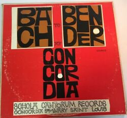 Bach To Bender At Concordiaseminary Festival 1965 2 Lpfast Shipping