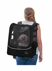 Pet Gear I-GO2 Sport Roller Backpack for cats and dogs up Black
