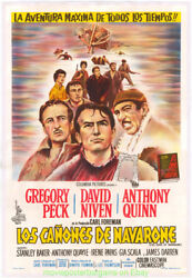 The Guns Of Navarone Movie Poster Argentine Linenbacked Gregory Peck R1966 Wwii