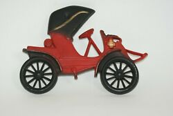 3 Cars Midwest Cast Iron 1910 Red Buick 1909 Green Hupmobile 1905 Arrow T5 Wall