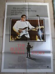 Vintage Movie Poster 1 Sheet The Buddy Holly Story 1978 Gary Busey, Don Stroud